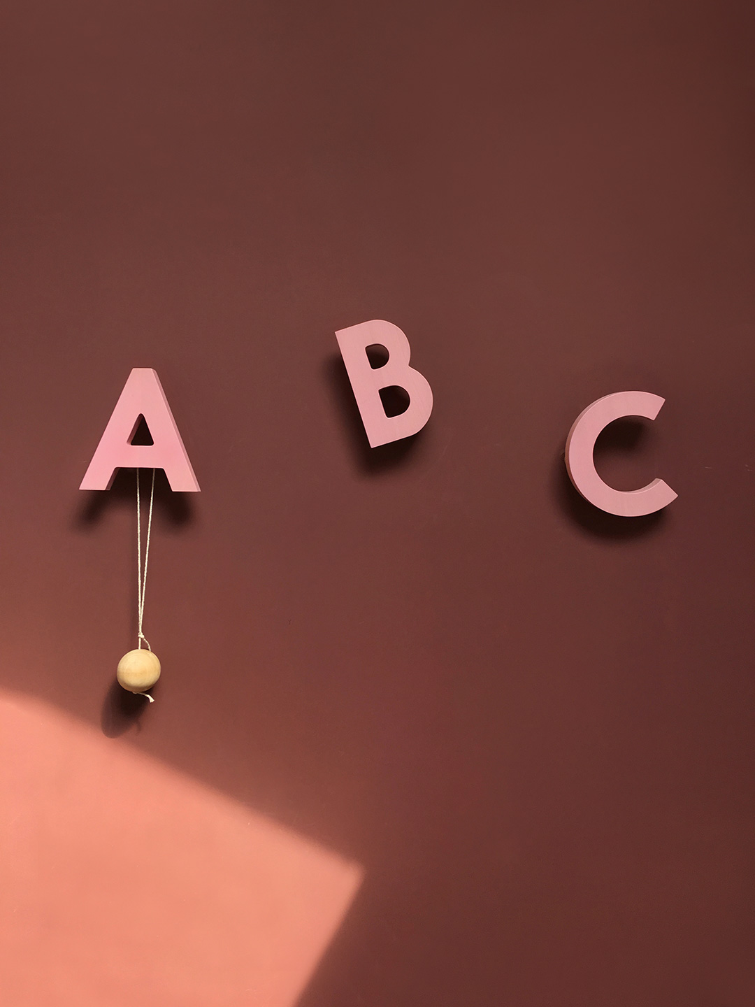 Alphabet Soup Wall hooks - ABC (Rose)