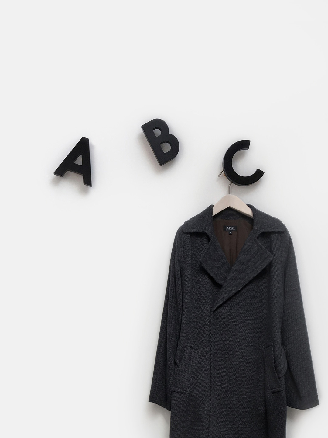 Alphabet Soup Wall hooks - ABC (Black)