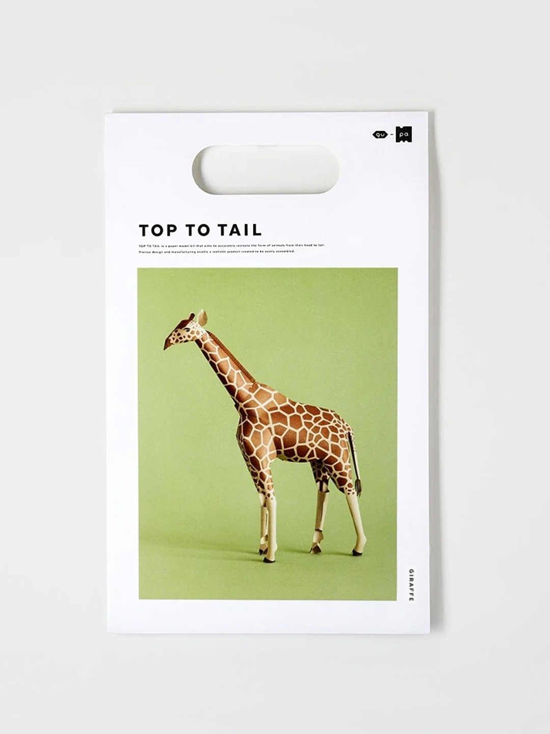 Top To Tail Paper Model Kit - Giraffe