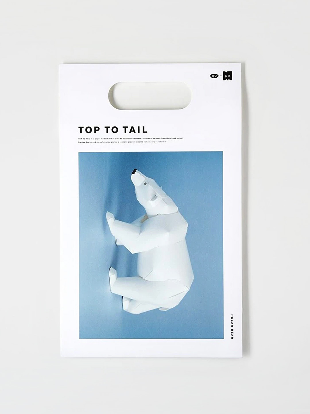 Top To Tail Paper Model Kit - Polar Bear