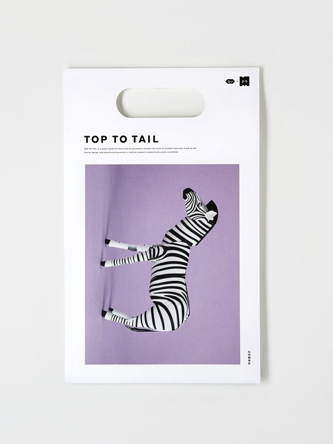 Top To Tail Paper Model Kit - Zebra