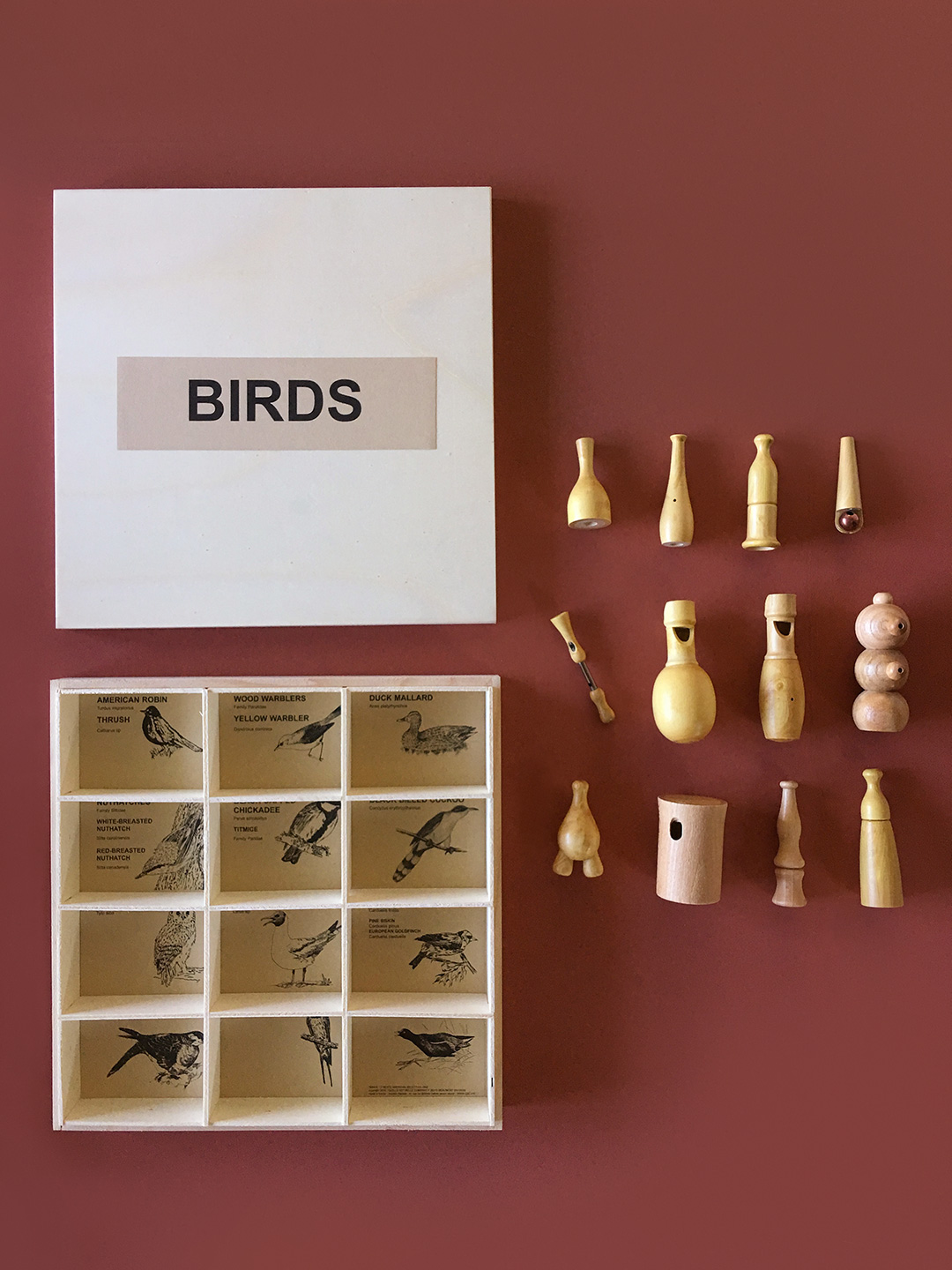 12 Birds of America Bird Calls Gift Box