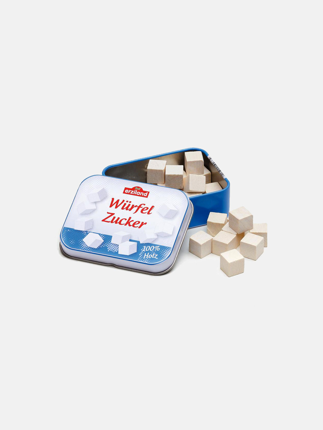 Wooden Food - Sugar Cubes in a Tin
