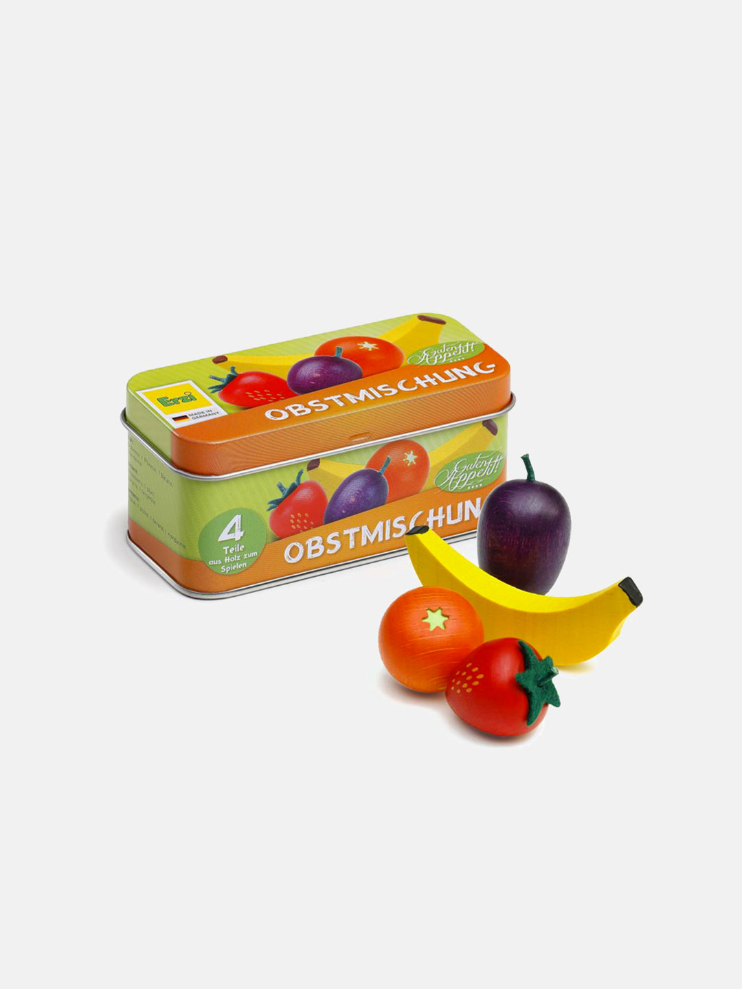 Wooden Fruit - Mixed Fruits in a Tin