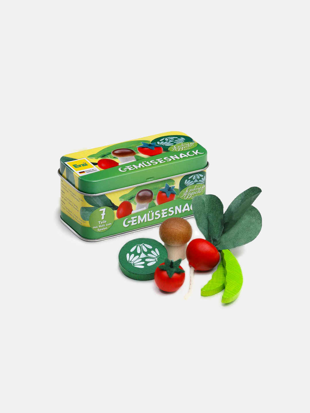 Wooden Vegetable - Vegetables Snack in a Tin
